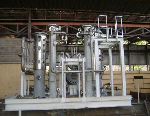 Process skid with Plate Heat Exchanger